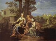 Nicolas Poussin The Sacred Family in a landscape oil painting picture wholesale