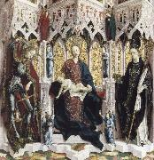 PACHER, Michael The Virgin and Child Enthroned with Angels and Saints oil painting picture wholesale