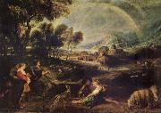 Peter Paul Rubens Landscape iwth a Rainbow oil painting picture wholesale