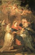 Peter Paul Rubens Aparicion of Maria to San IIdefonso oil painting picture wholesale