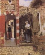 Pieter de Hooch The Countyard of a House in Delf oil painting picture wholesale