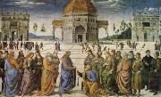 Pietro Perugino Charge to Peter oil painting picture wholesale