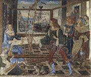 Pinturicchio Penelope at the Loom and Her Suitors oil painting artist