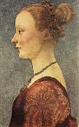 Pollaiuolo, Piero Portrait of a Young Lady oil painting artist