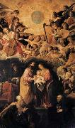 ROELAS, Juan de las Adoration of the Name of Jesus oil painting artist