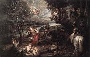 RUBENS, Pieter Pauwel Landscape with Saint George and the Dragon oil painting picture wholesale