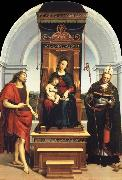 Raphael The Madonna and Child Enthroned with Saint John the Baptist and Saint Nicholas of Bari oil painting picture wholesale