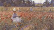Robert William Vonnoh In Flanders Field Where Soldiers Sleep and Poppies Grow oil painting artist