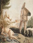 TIEPOLO, Giovanni Domenico Pulcinelle on Vacation oil painting picture wholesale