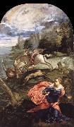 TINTORETTO, Jacopo Saint George,The Princess and the Dragon oil painting picture wholesale