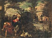 TINTORETTO, Jacopo Flight into Egypt oil painting picture wholesale