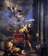TIZIANO Vecellio Philip II Offering Don Fernando to Victory oil painting picture wholesale