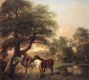 Thomas Gainsborough Landscap with Peasant and Horses oil painting picture wholesale
