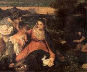 Titian The Virgin with the rabbit oil painting picture wholesale