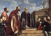 Titian The Vendramin Family oil painting picture wholesale