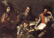 VALENTIN DE BOULOGNE The Four Ages of Man oil painting on canvas