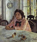 Valentin Serov Girl awith Peaches oil painting on canvas