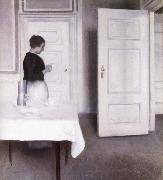 Vilhelm Hammershoi Interior with Woman Reading a Letter,Strandgade 30,1899 oil painting picture wholesale