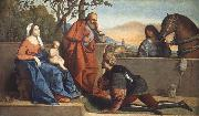 Vincenzo Catena A Muslim Warrior Adoring the Infant Christ and the Virgin oil painting picture wholesale