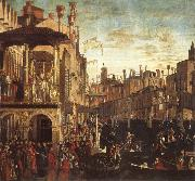 Vittore Carpaccio Cure of a possessed man through the patriarch of Grado oil painting picture wholesale