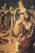 Vittore Carpaccio Venetian Ladies,known as the courtesans oil painting picture wholesale