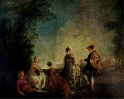 WATTEAU, Antoine An Embarrassing Proposal oil painting picture wholesale