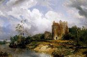 Wijnand Nuyen River Landscape with Ruins oil painting picture wholesale