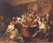 William Hogarth A Rake-s Progress,Tavern Scene oil painting picture wholesale