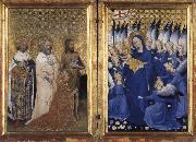 unknow artist Richard II of England presented to the Virgin and Child by his patron Saint John the Baptist and Saints Edward and Edmund oil painting picture wholesale