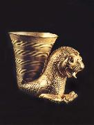 unknow artist Rhyton in the form of a lion-griffin oil painting picture wholesale