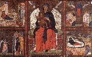 unknow artist Virgin and Child Enthroned with Scenes from the Life of the Virgin oil painting picture wholesale