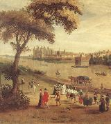 unknow artist The Thames at Richmond,with a view of Richmond Palace oil painting picture wholesale