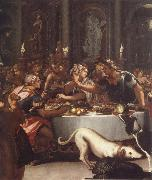 ALLORI Alessandro The banquet of the Kleopatra oil painting picture wholesale