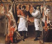 Annibale Carracci the butcher store oil