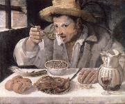 Annibale Carracci The bean eater oil