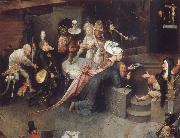 BOSCH, Hieronymus The temptation of the Bl Antonius oil painting picture wholesale