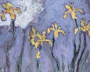 Claude Monet Yellow Irises with Pink Cloud oil painting reproduction