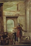 Domenico  Feti The allegory of the guest-mabl above guests oil painting picture wholesale