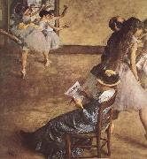 Edgar Degas Balettklassen oil painting picture wholesale