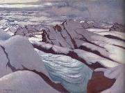 Felix Vallotton High Alps,Glacier and Snowy Peaks oil painting picture wholesale