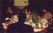 Felix Vallotton Dinner,Light Effect oil painting picture wholesale