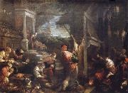 Francesco Bassano the younger The homecoming de lost of son into the father house oil painting