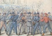 Frank Vizetelly Union Soldiers Attacking Confederate Prisoners in the Streets of Washington oil painting picture wholesale
