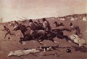 Frederick Remington Oil undated Geronimo Fleeing from camp oil painting picture wholesale