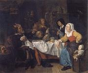 Gabriel Metsu The bean festival oil painting picture wholesale