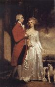 George Romney Sir Christopher and Lady Sykes strolling in the garden at Sledmere oil painting picture wholesale