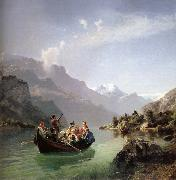 Hans Gude Brudfarden i Hardanger oil painting picture wholesale
