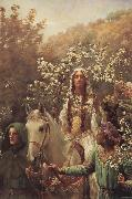 John Collier Queen Guinever-s Maying oil painting picture wholesale