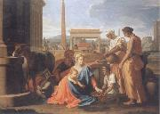 Nicolas Poussin The hl, Famile in Agypten oil painting picture wholesale