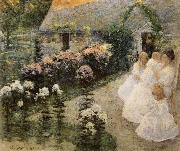 Robert Reid In the Flwer Garden oil painting picture wholesale